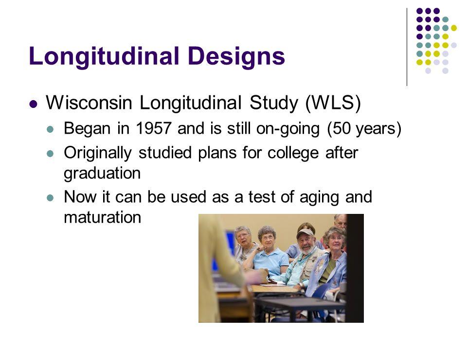 Longitudinal Designs Wisconsin Longitudinal Study (WLS)