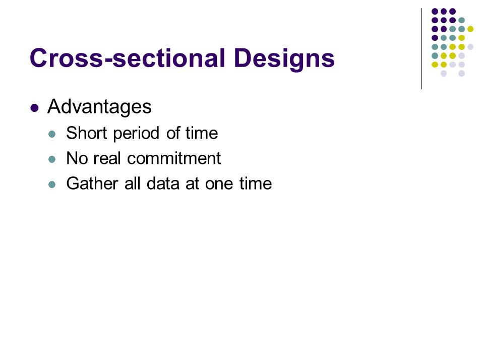 Cross-sectional Designs