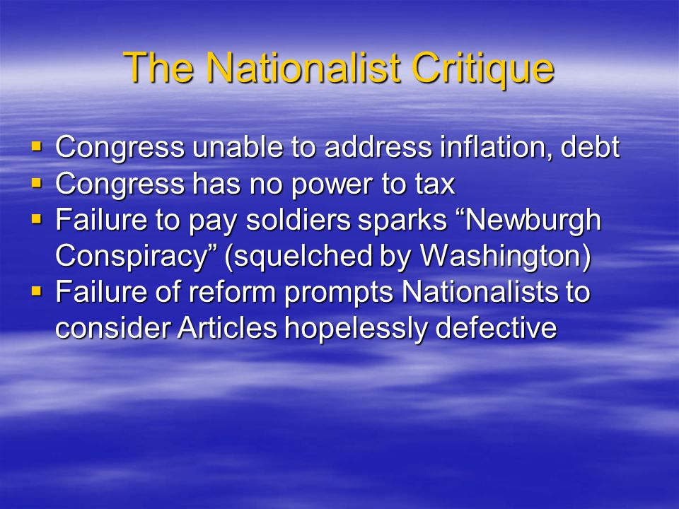 The Nationalist Critique