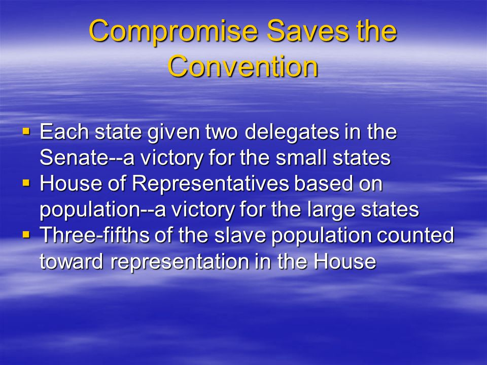 Compromise Saves the Convention