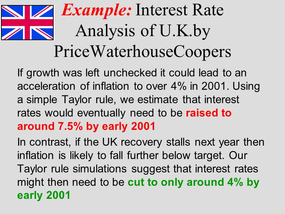 Example: Interest Rate Analysis of U.K.by PriceWaterhouseCoopers