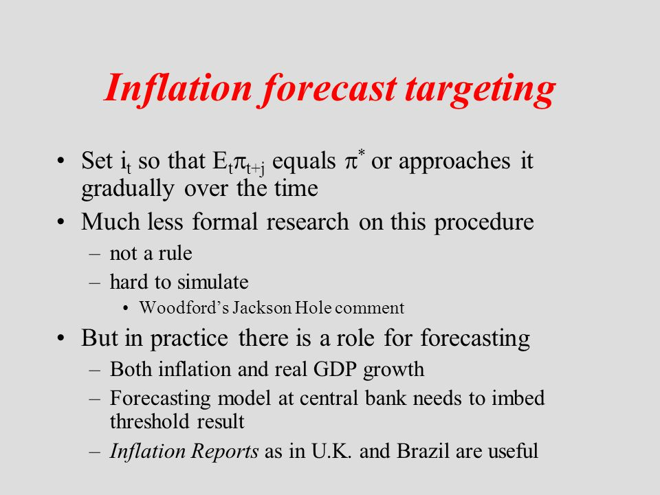 Inflation forecast targeting