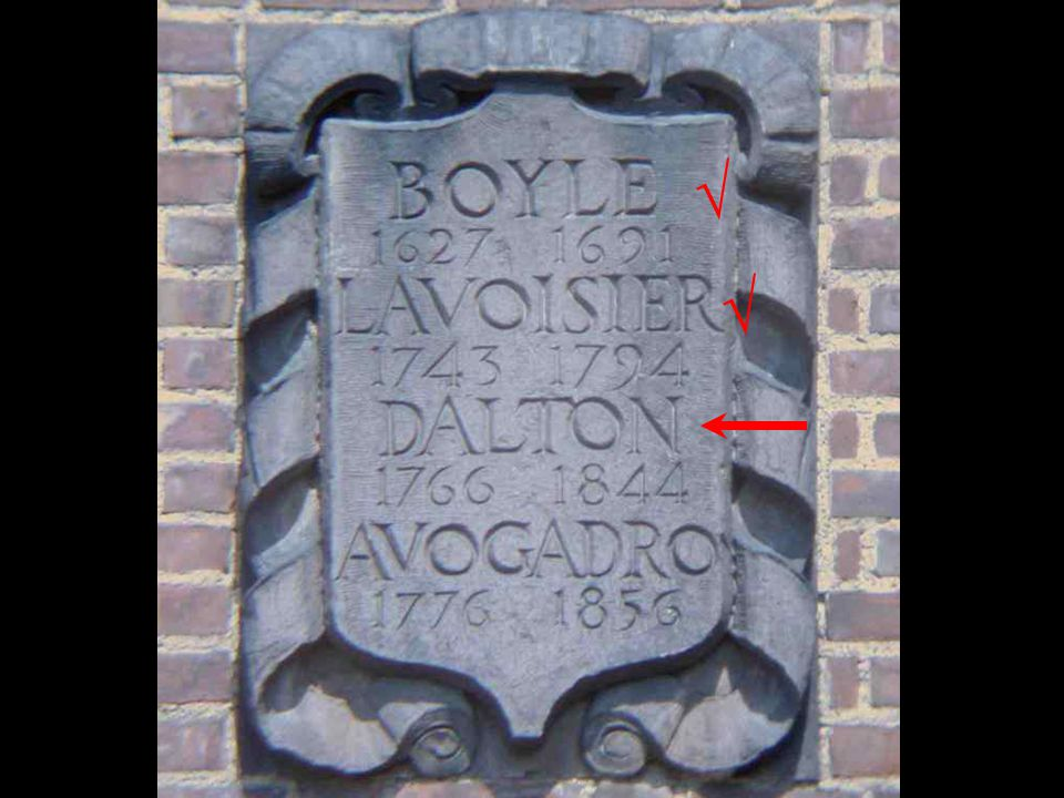 Boyle Lavoisier √ √