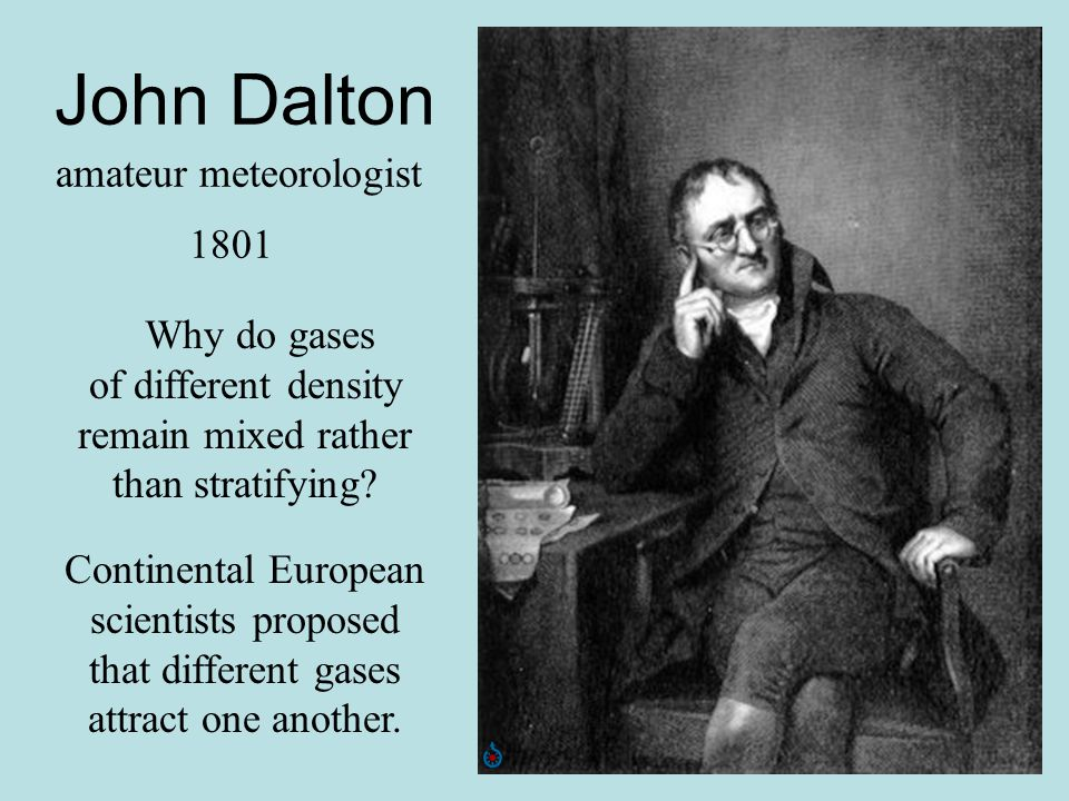 John Dalton amateur meteorologist 1801