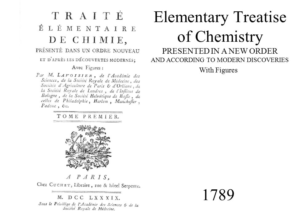 Elementary Treatise of Chemistry