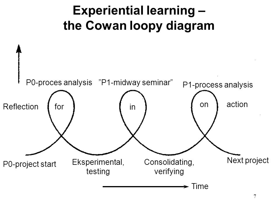 Experiential learning – the Cowan loopy diagram