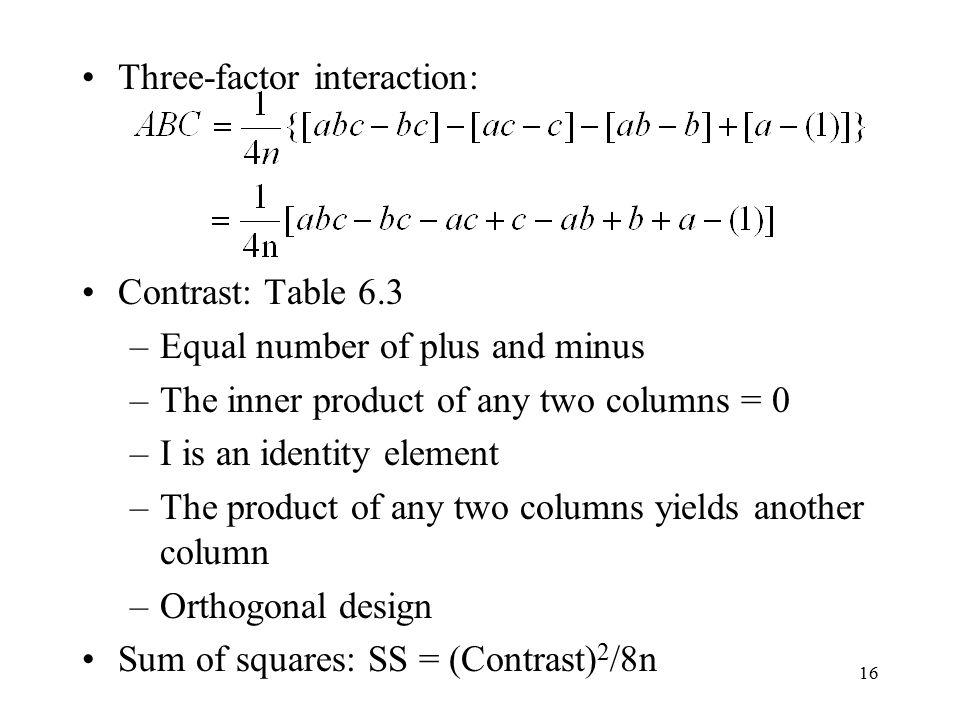 Three-factor interaction:
