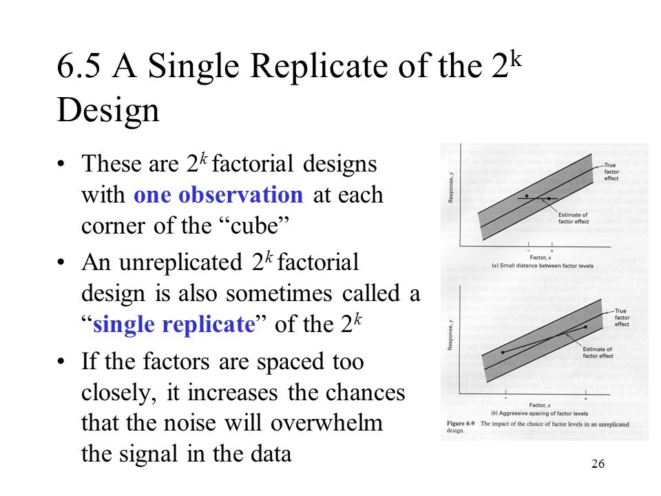 6.5 A Single Replicate of the 2k Design