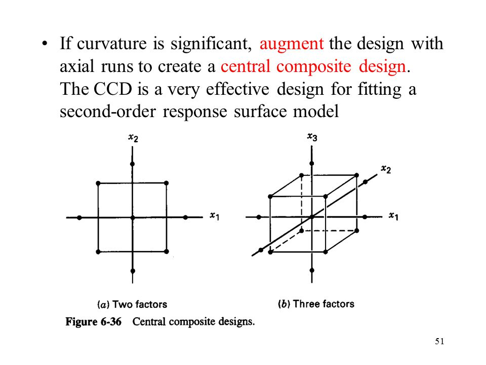 If curvature is significant, augment the design with axial runs to create a central composite design.