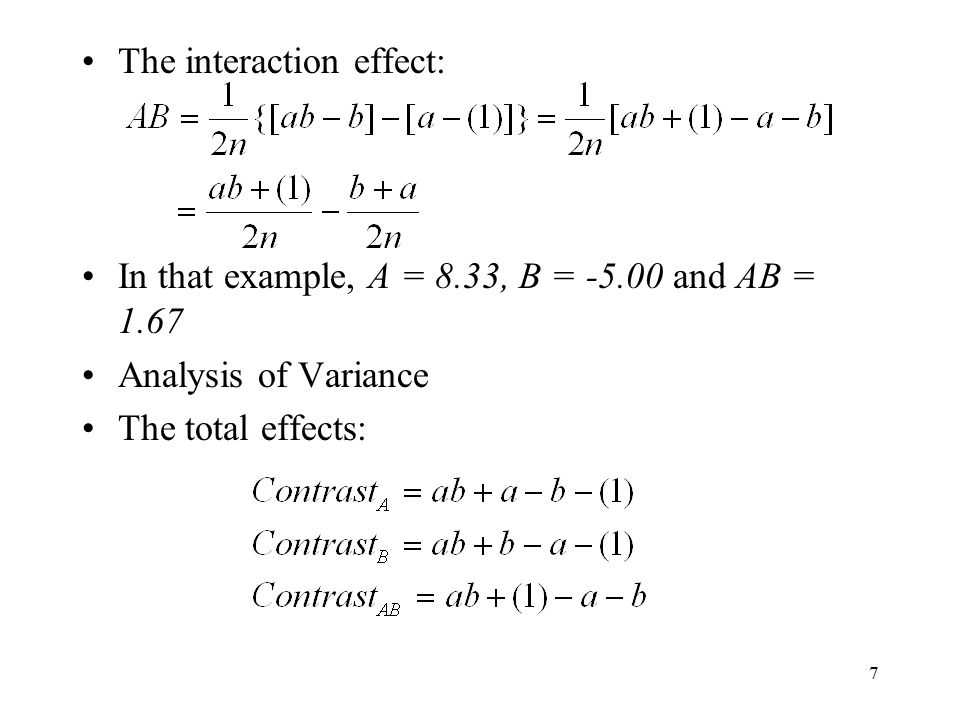 The interaction effect: