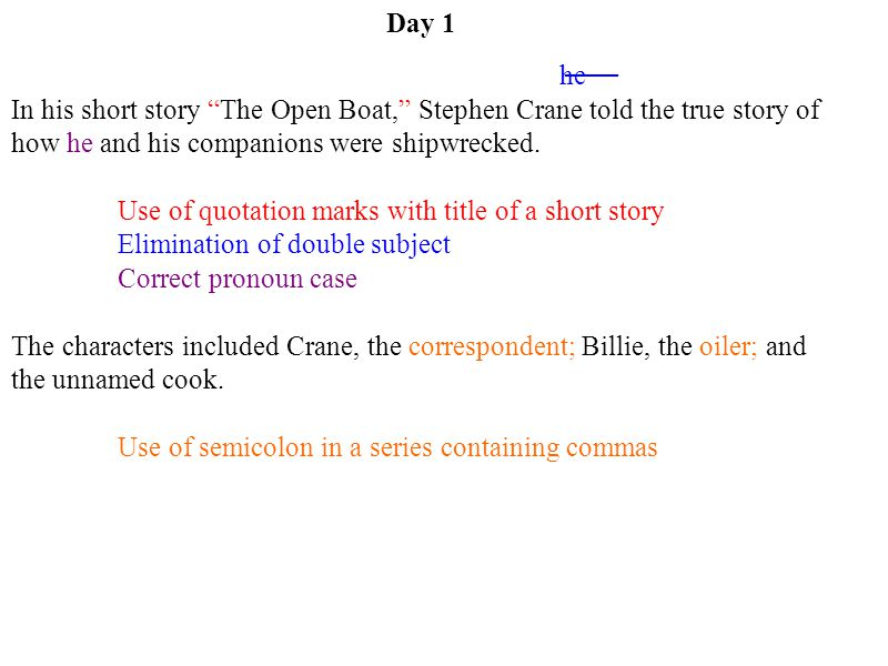 Use of quotation marks with title of a short story