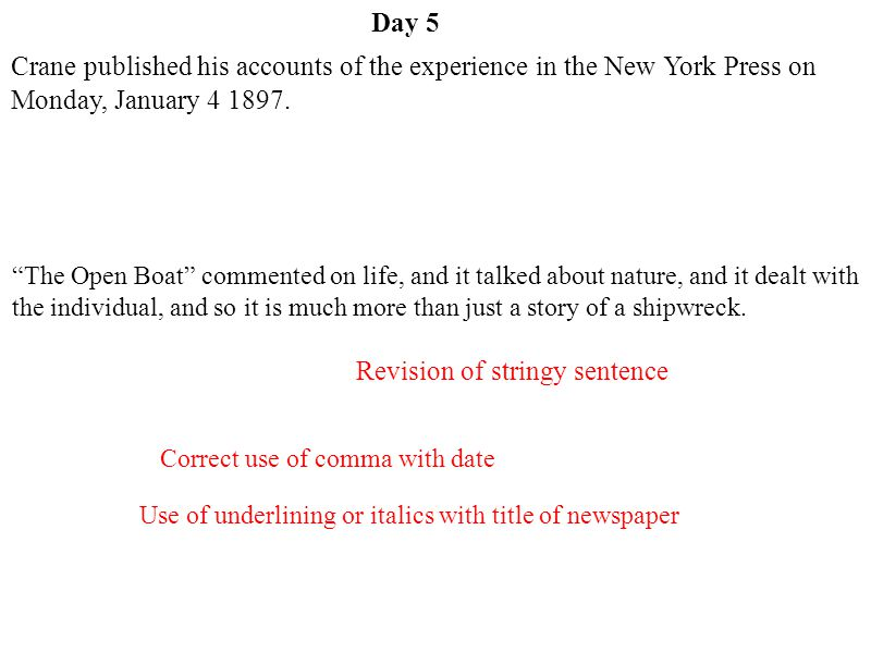 Revision of stringy sentence