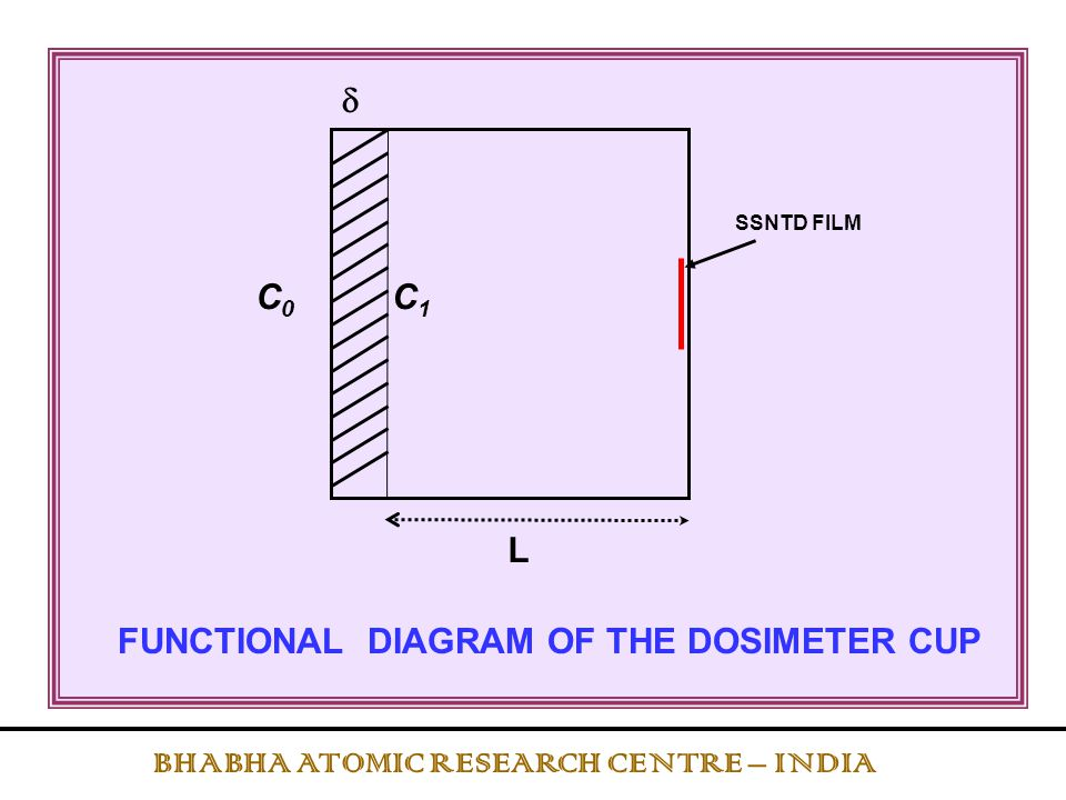 FUNCTIONAL DIAGRAM OF THE DOSIMETER CUP