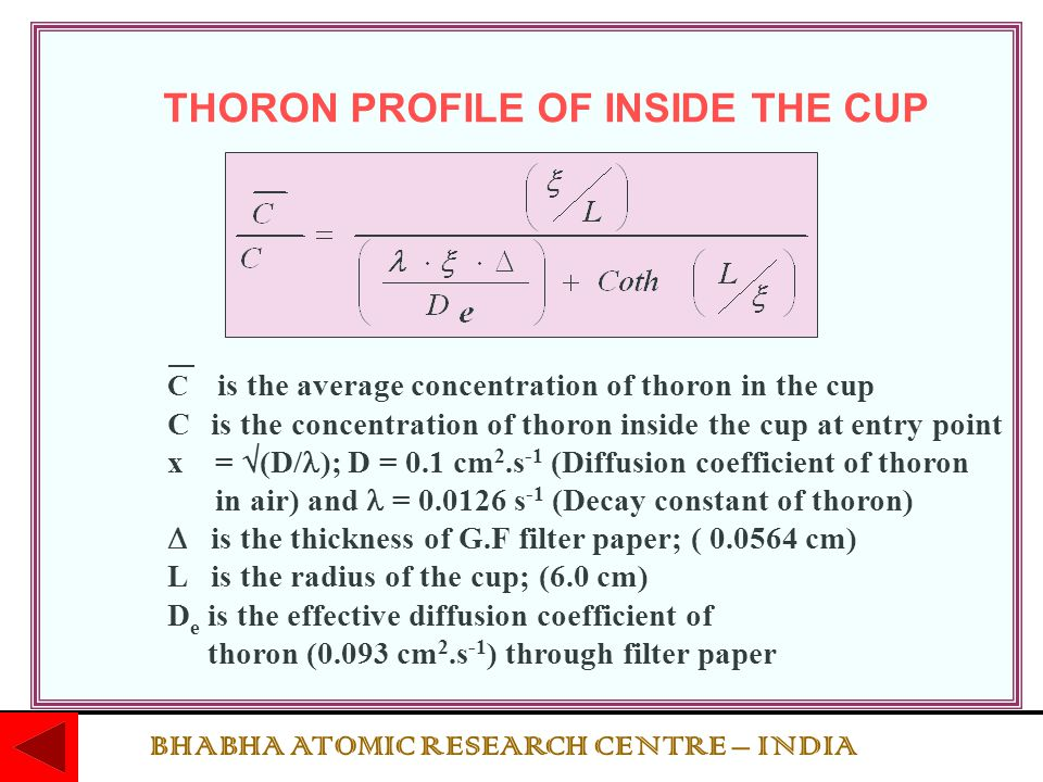 THORON PROFILE OF INSIDE THE CUP