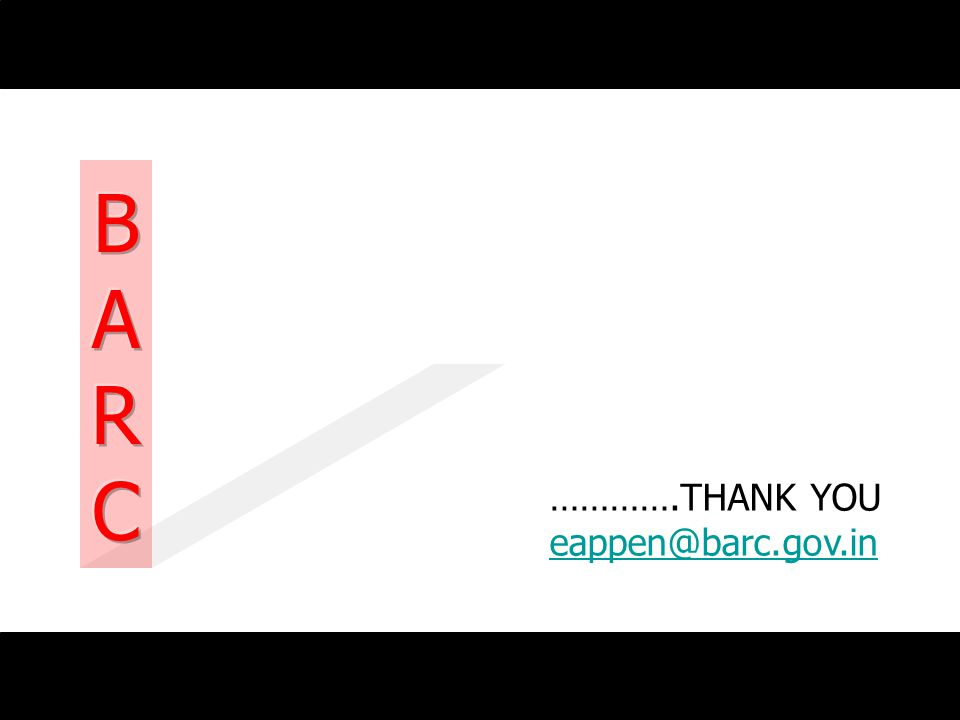 B A R C ………….THANK YOU eappen@barc.gov.in