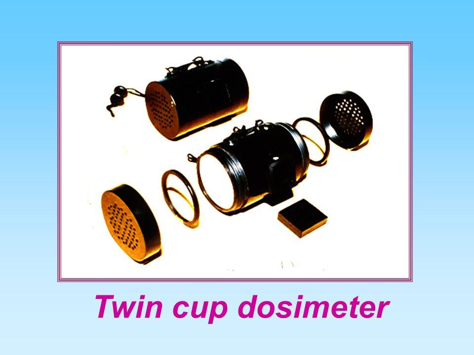Twin cup dosimeter