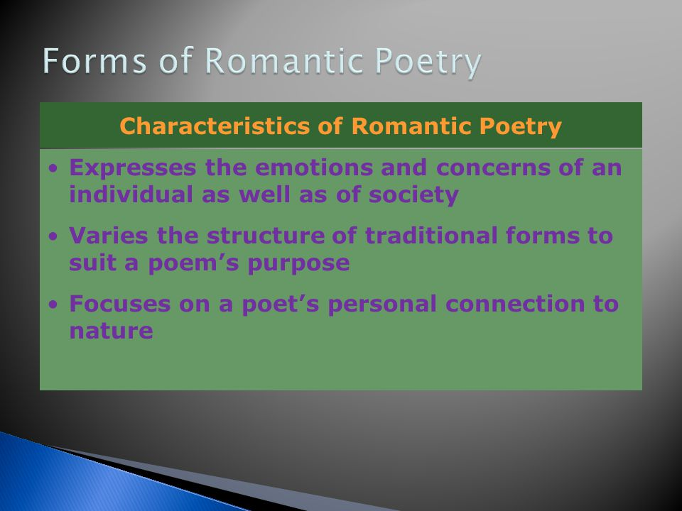 Forms of Romantic Poetry