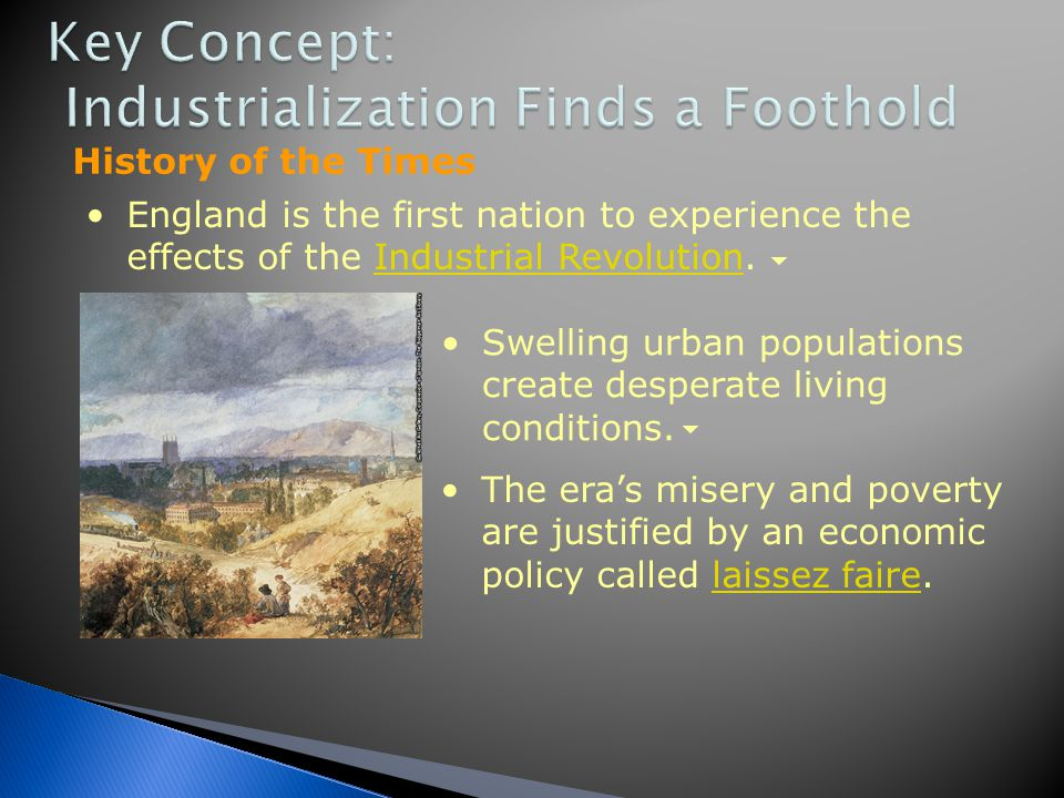 Key Concept: Industrialization Finds a Foothold