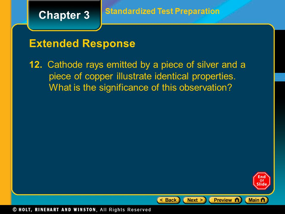 Chapter 3 Extended Response