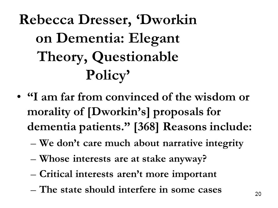 dworkins theory of law as integrity In this essay, first and foremost, we will briefly discuss the basic arguments of  dworkin's theory of law as integrity then we will go on to criticize.
