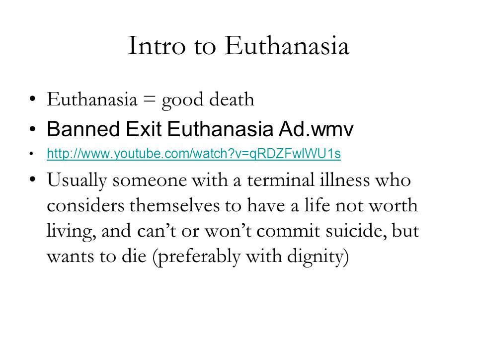 "euthanasia the good death Euthanasia – the ""good death"" controversy in humans and animals edited by josef kuře published by intech janeza trdine 9, 51000 rijeka, croatia."
