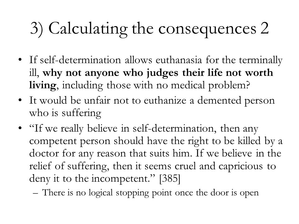 3) Calculating the consequences 2