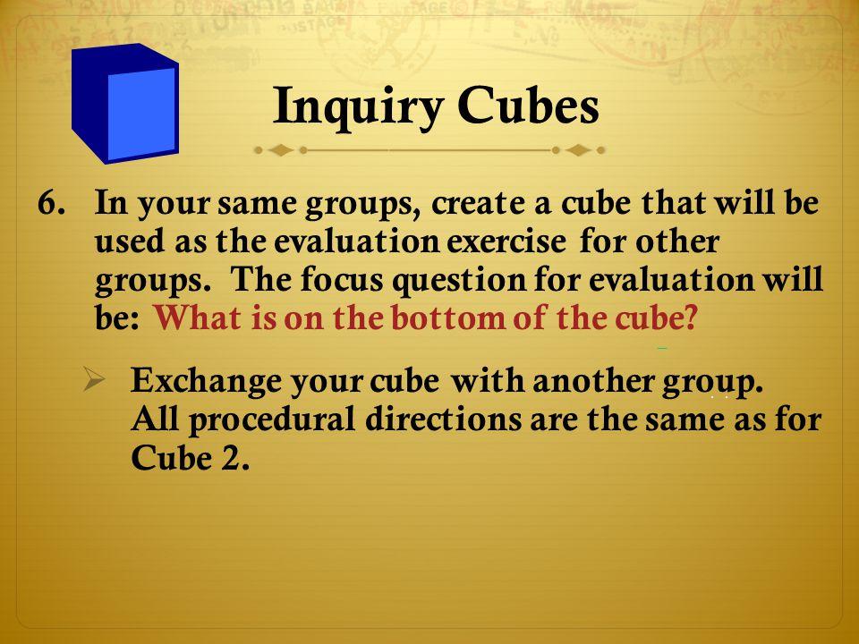 Inquiry Cubes