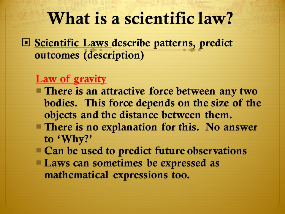 What is a scientific law