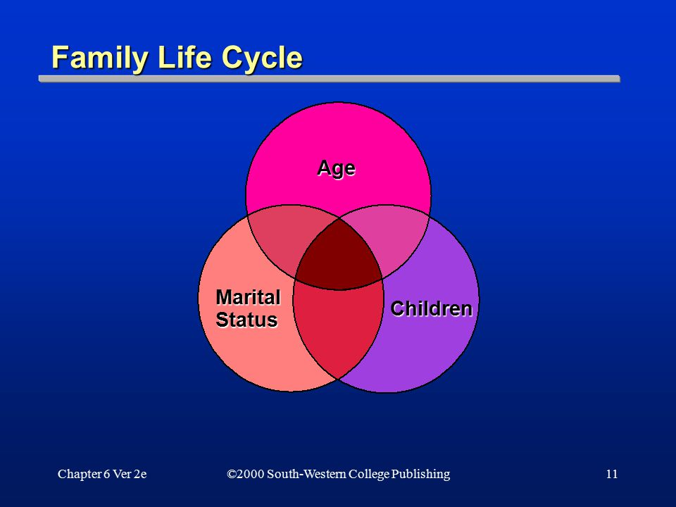 Family Life Cycle Age Marital Status Children Chapter 6 Ver 2e
