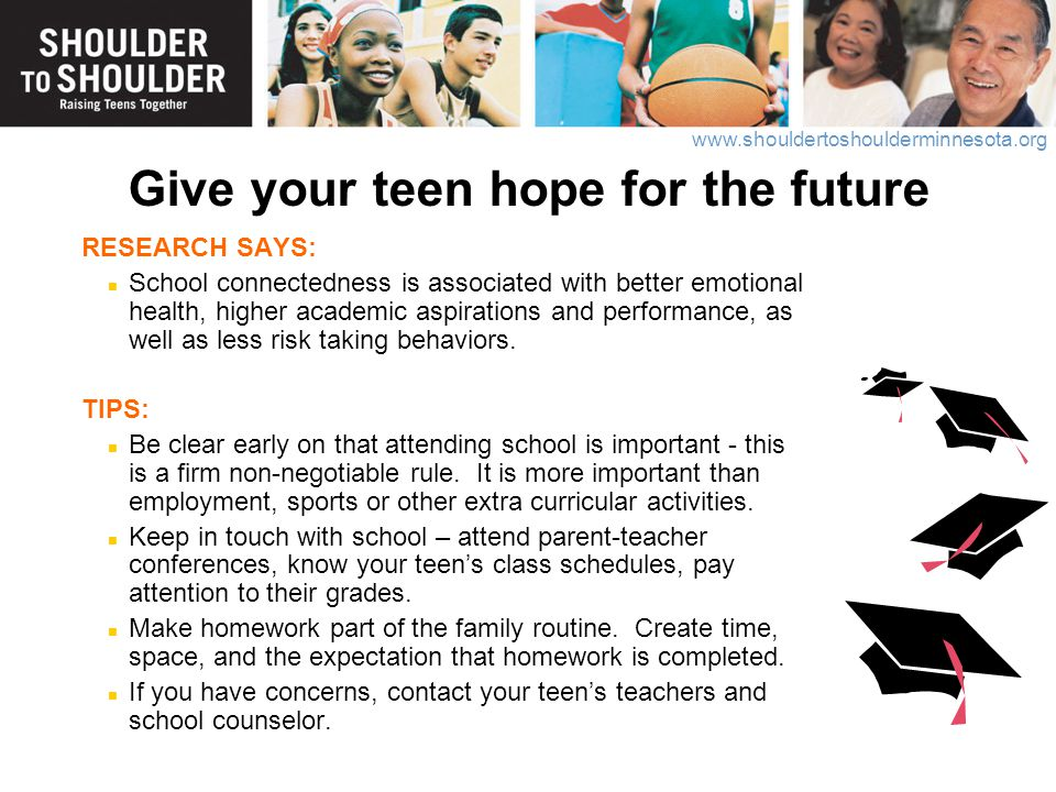 Give your teen hope for the future