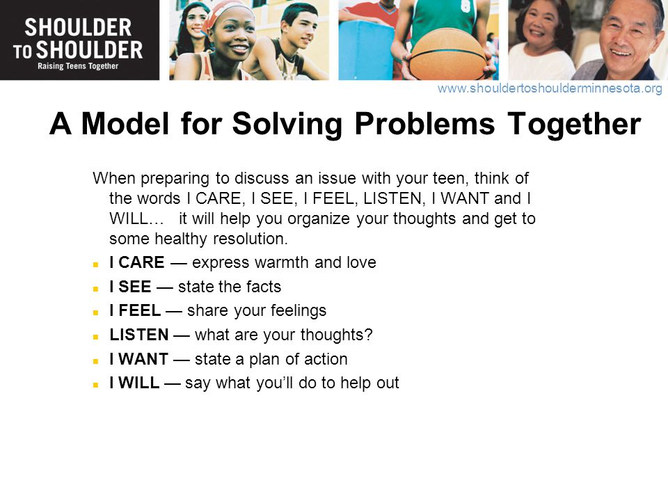 A Model for Solving Problems Together