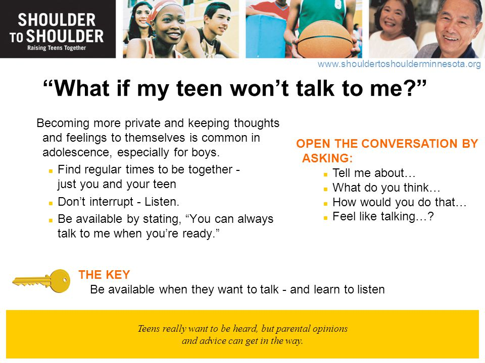What if my teen won't talk to me