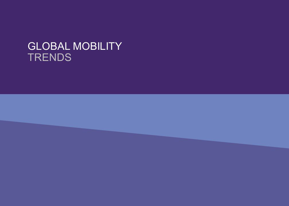 Global mobility trends Traditional mobility