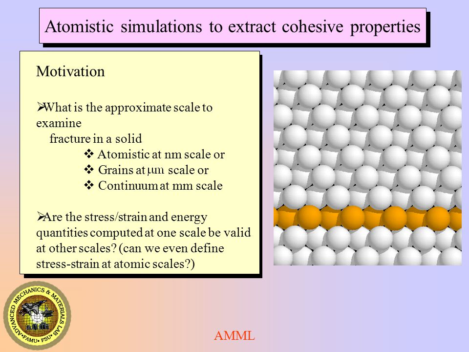Atomistic simulations to extract cohesive properties