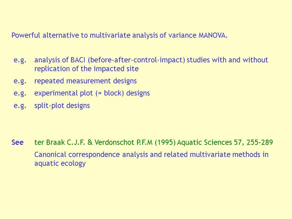 Powerful alternative to multivariate analysis of variance MANOVA.
