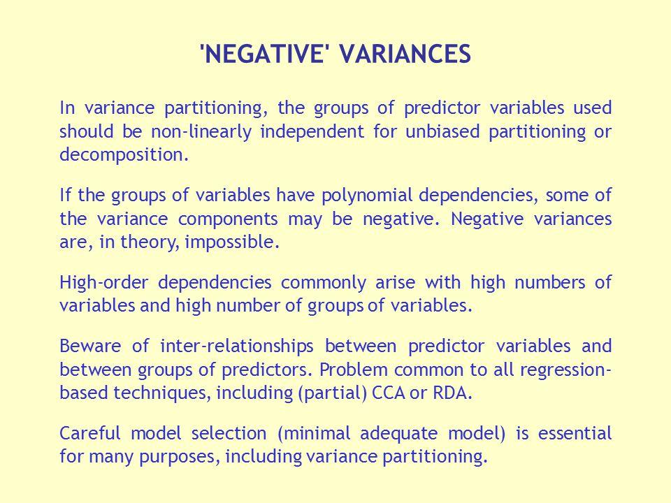 NEGATIVE VARIANCES