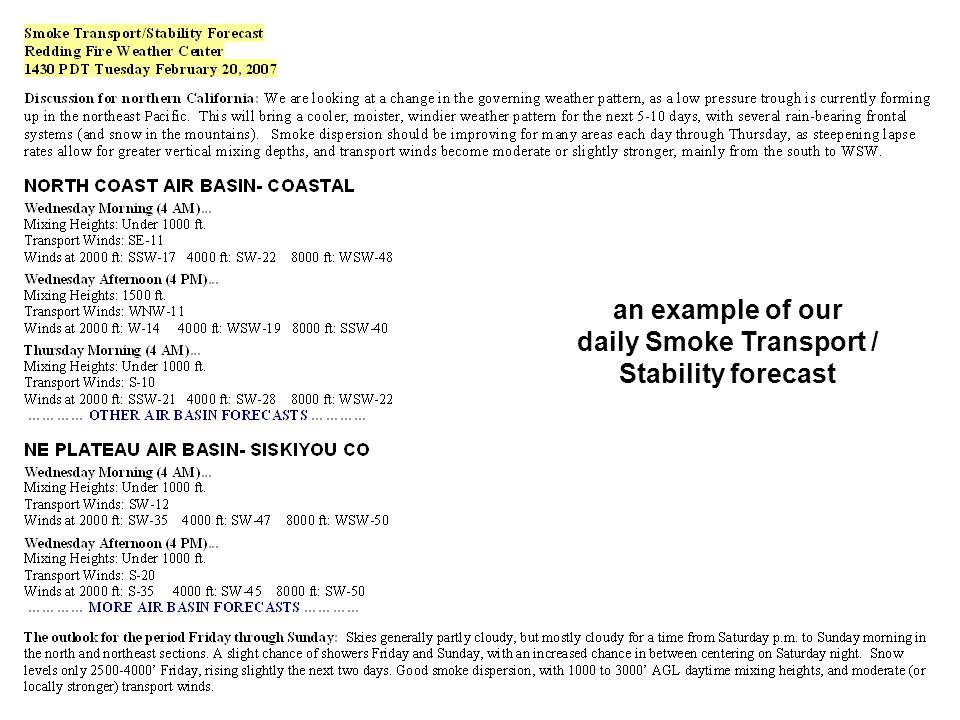 daily Smoke Transport /