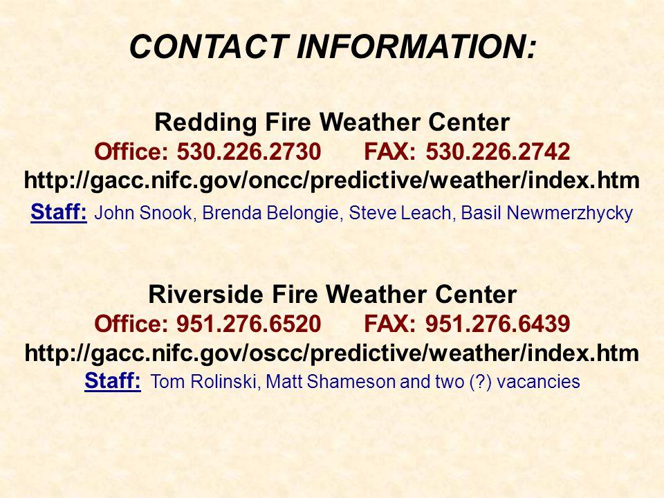 Redding Fire Weather Center Riverside Fire Weather Center