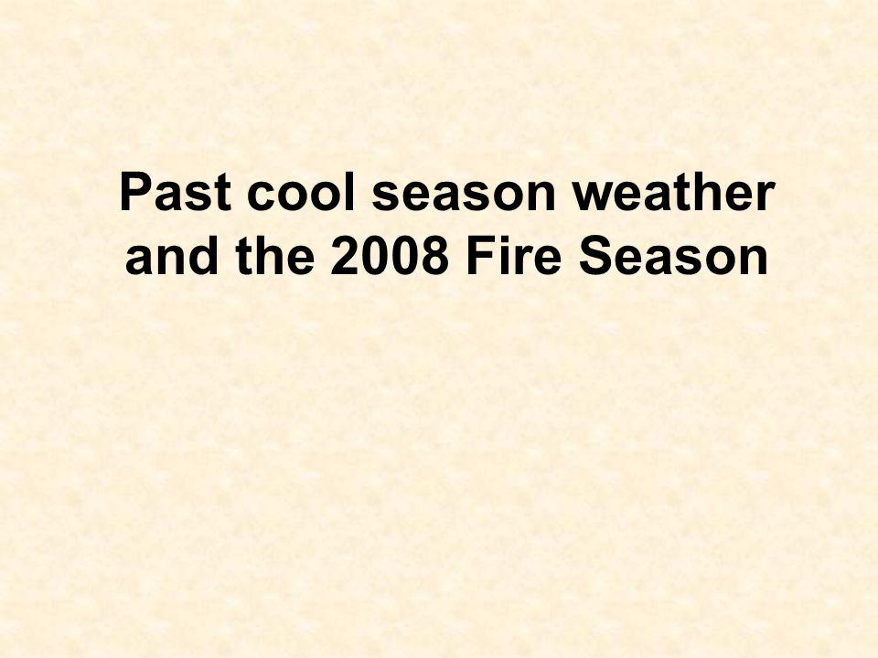 Past cool season weather