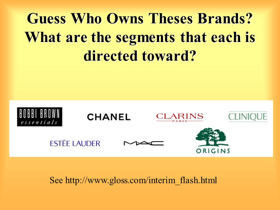 Guess Who Owns Theses Brands