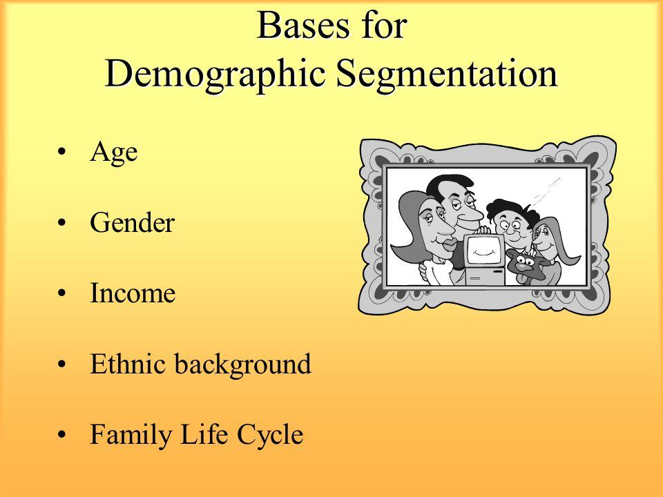 Bases for Demographic Segmentation