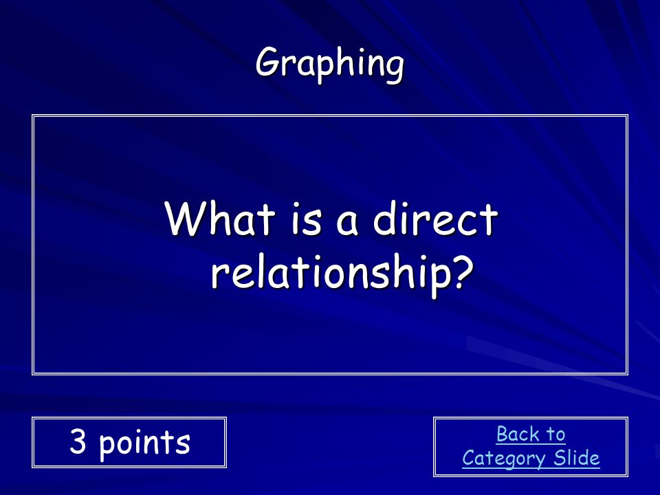 What is a direct relationship