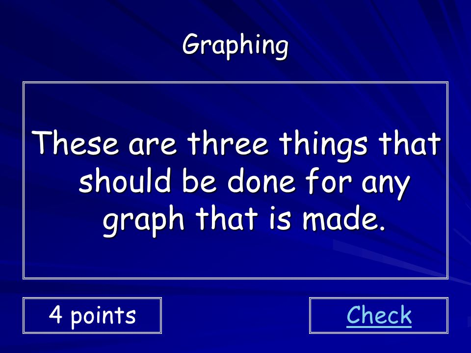 These are three things that should be done for any graph that is made.