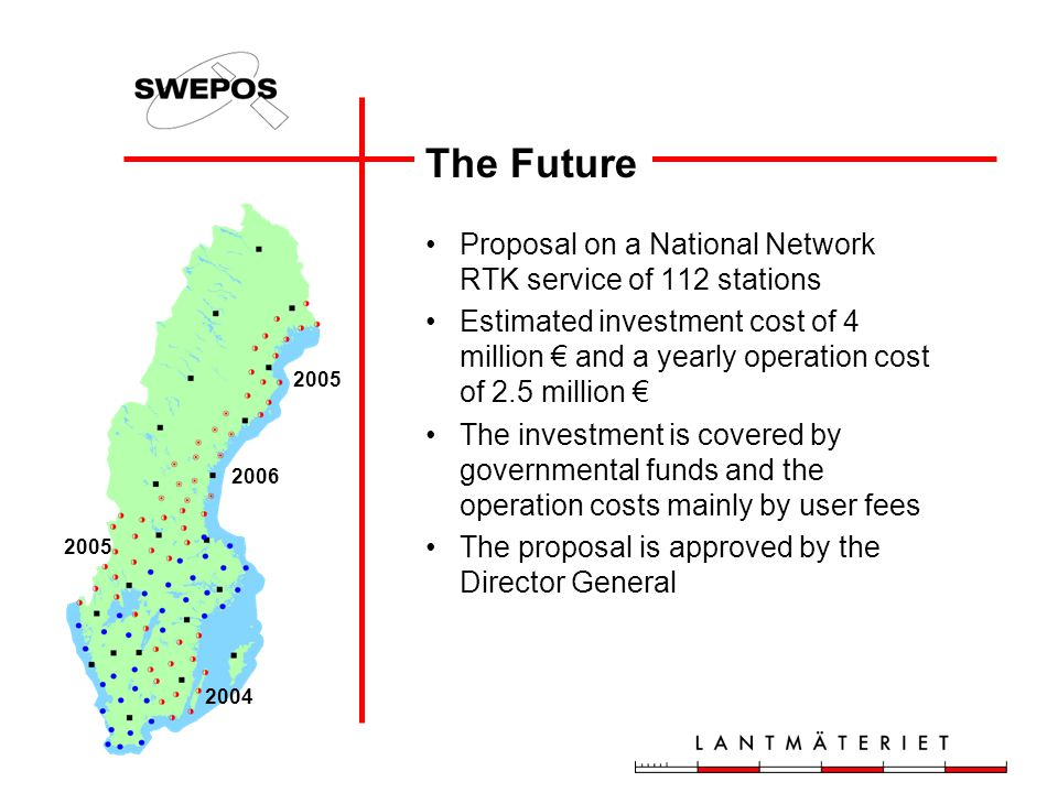 The Future Proposal on a National Network RTK service of 112 stations