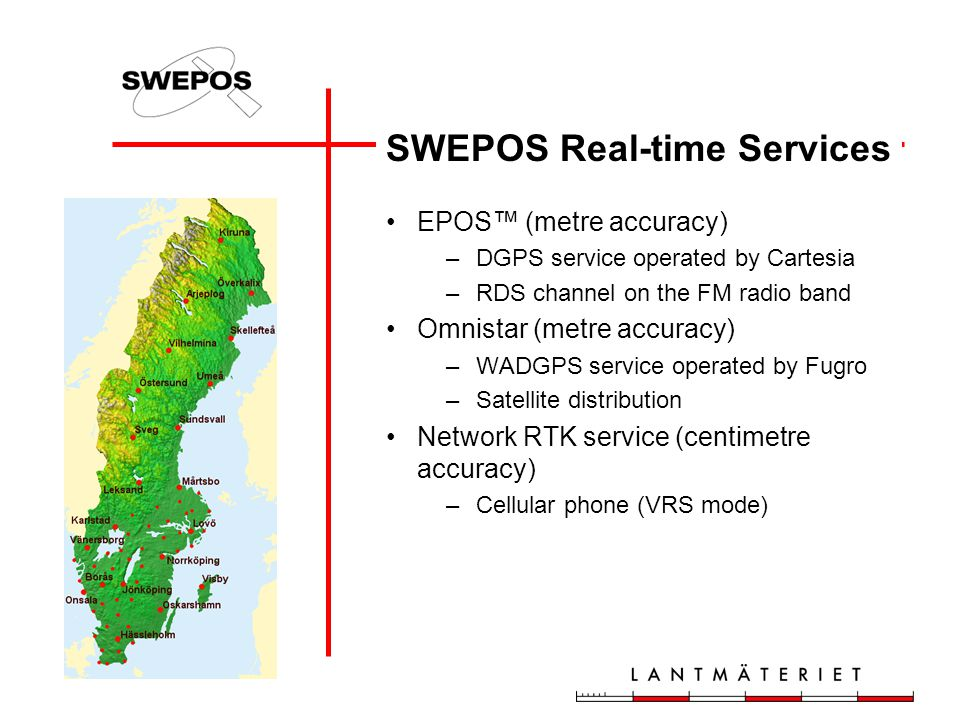 SWEPOS Real-time Services