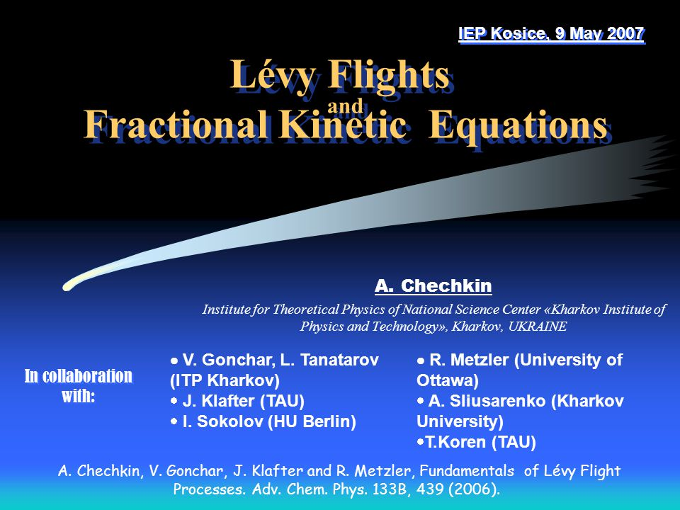 Lévy Flights and Fractional Kinetic Equations
