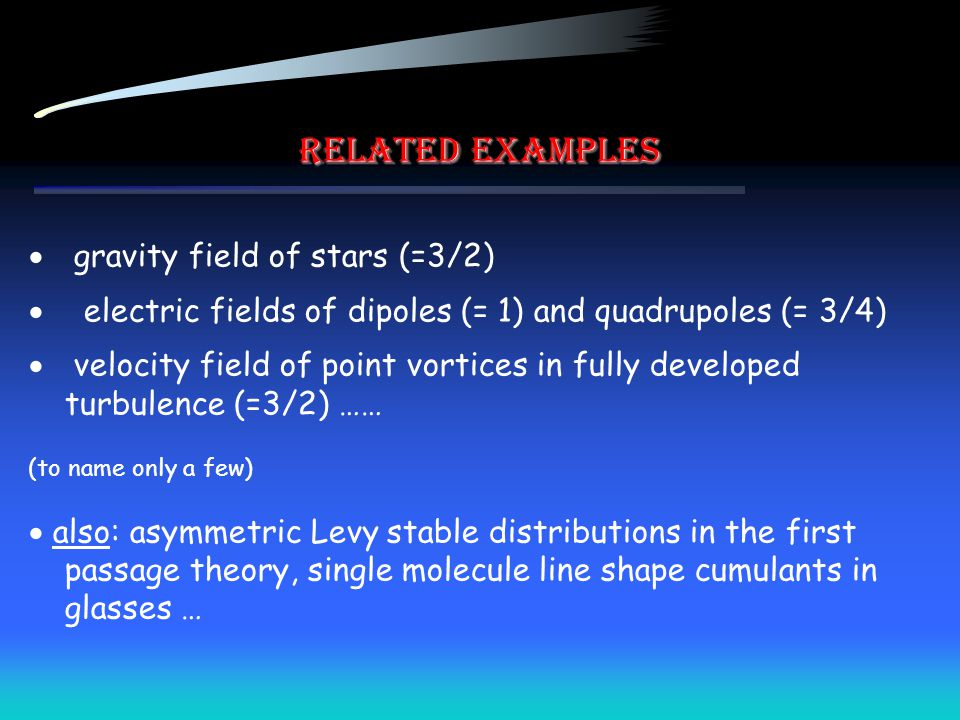 Related examples gravity field of stars (=3/2)