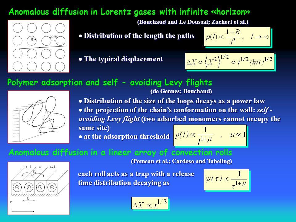 Anomalous diffusion in Lorentz gases with infinite «horizon»