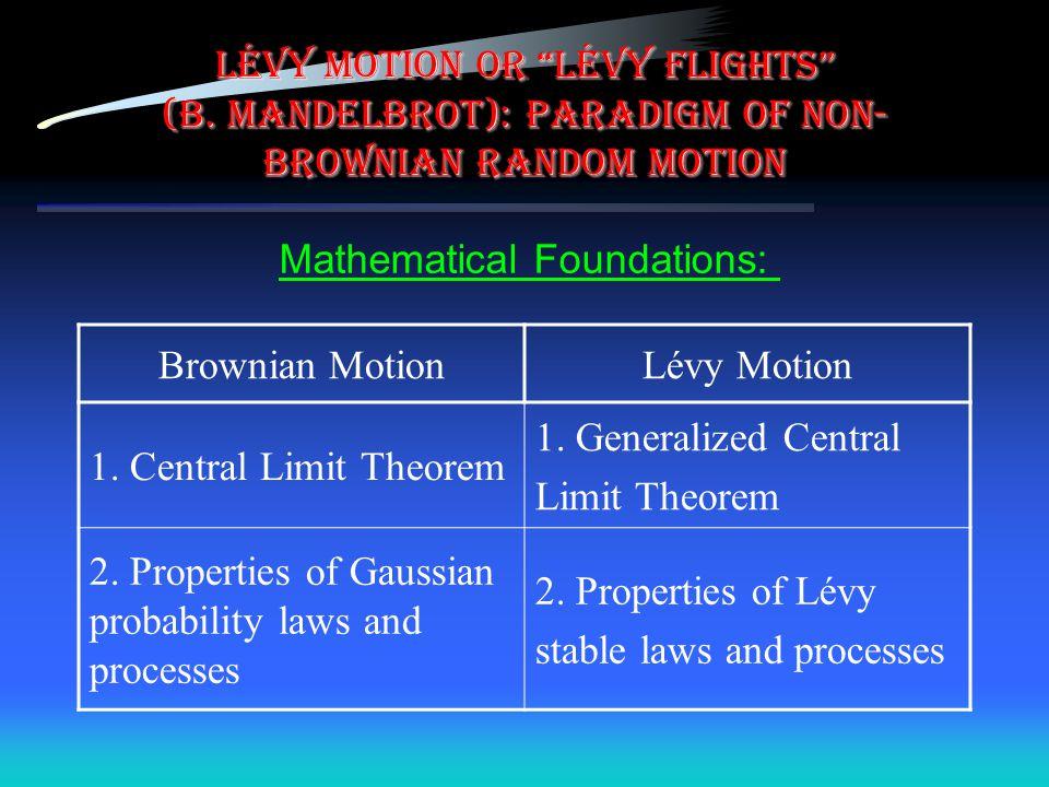 LÉVY motion or LÉVY flights (B