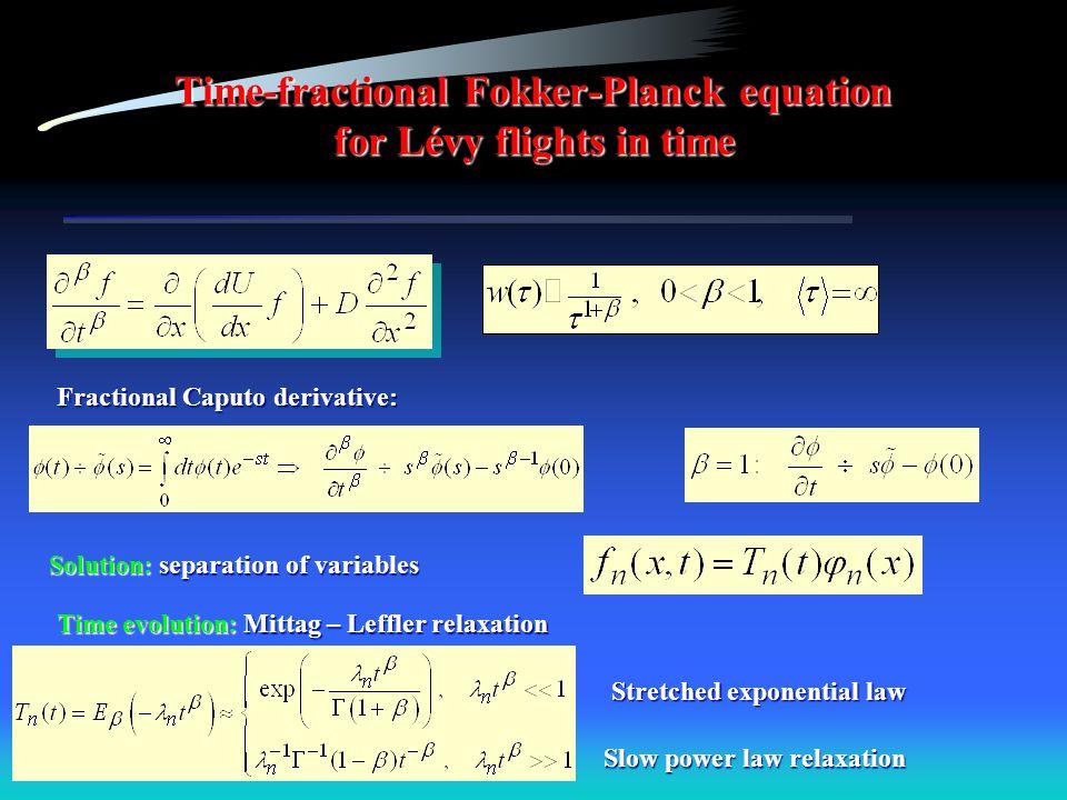 Time-fractional Fokker-Planck equation for Lévy flights in time